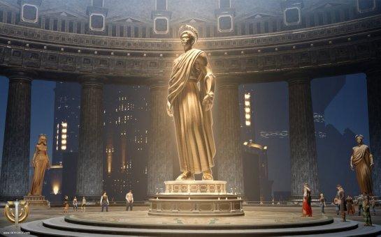 En otros juegos podemos sentirnos Dios de lo fuertes que somos pero en Skyforge la cosa es tan exagerada que... ¡Hasta tendremos una estatua propia para que nos puedan adorar!